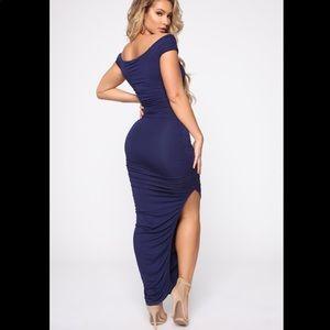 "Fashion nova ""call me elastic rushes maxi dress"""